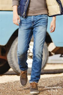 Abercrombie & Fitch Mid Wash Skinny Fit Jean