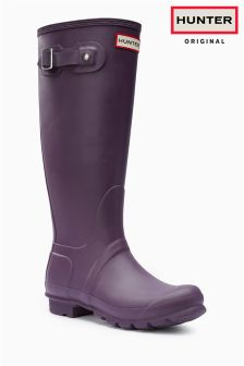Hunter Dark Purple Matte Tall Wellington Boot