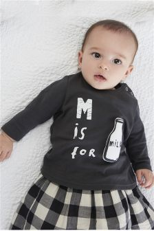 M Is For Milk T-Shirt (0mths-2yrs)