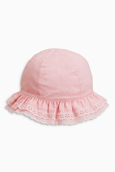 Broderie Hat (Younger Girls)