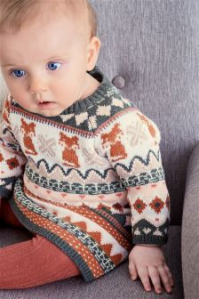 Fairisle Pattern Dress (0mths-2yrs)
