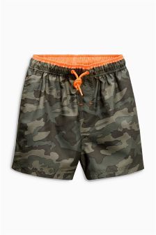 Camo Print Swim Shorts (3-16yrs)