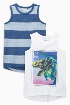 Dinosaur Vests Two Pack (3-16yrs)