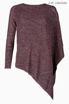 A.M. London Purple Asymmetric Jumper