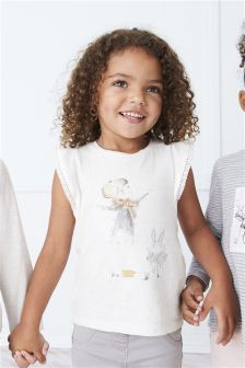 Girl Print Frill Top (3mths-6yrs)