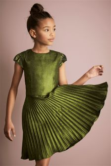 Foil Pleated Dress (3-16yrs)