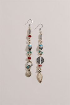 Beaded Mismatched Earrings