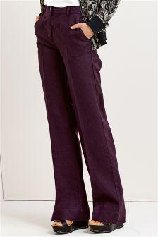 Premium Linen Wide Leg Trousers