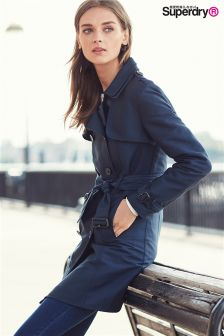Superdry Navy Belle Trench