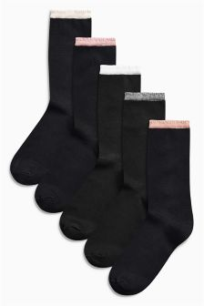 Tipped Socks Five Pack