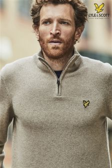 Lyle & Scott Oat 1/4 Zip Knit