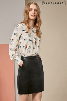 Warehouse Spaced Floral Print Top