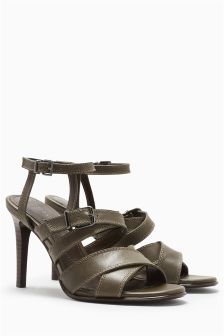 Buckle Cross Strap Sandals