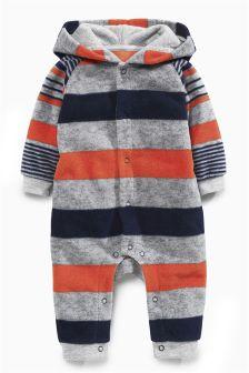 Fleece Stripe Romper (0mths-2yrs)