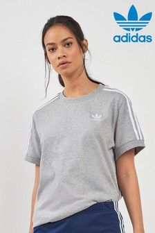 adidas Originals Grey 3 Stripe Tee