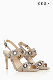 Coast Gunmetal Gold Detail Sandal