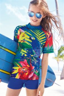 Sunsafe Parrot Print Two Piece Set (3-16yrs)