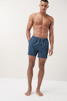 Daisy Print Swim Shorts