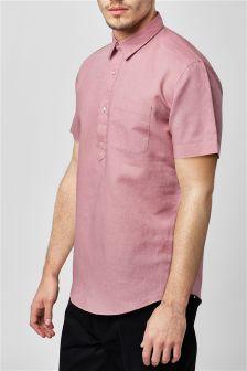 Linen Blend Overhead Shirt