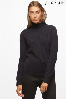Jigsaw Graphite Turtle Neck Cashmere