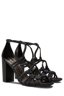 Rope Block Heel Sandals