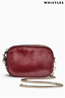 Whistles Oxblood Pony Baxter Mini Chain Camera Bag