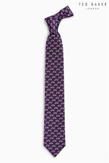 Ted Baker Burgundy Pique Cycles Tie