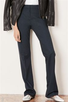 Stripe Machine Washable Boot Cut Trousers