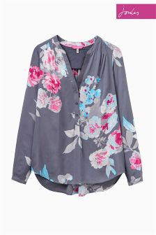 Joules Rosamund Grey Floral Pop Over