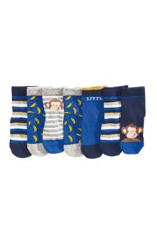 Monkey Socks Seven Pack (Younger Boys)