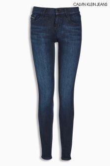 Calvin Klein Dark Wash Mid Rise Skinny Jean