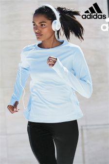 adidas Blue Long Sleeve Running Tee