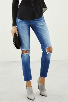 Relaxed Rip Knee Jeans