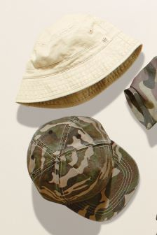 Cap And Fisherman's Hat Two Pack (Younger Boys)