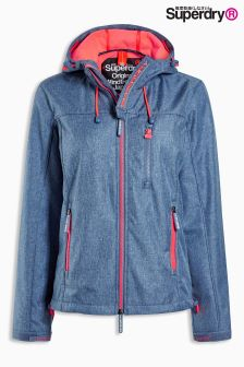 Superdry Navy Marl/Fluro Cherry Hooded Windtrekker