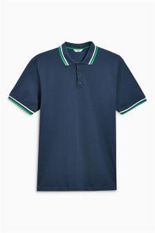 Short Sleeve Tipped Poloshirt