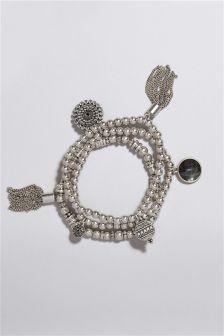 Charm Detail Expander Bracelet Pack