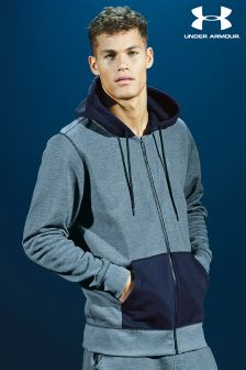 Under Armour Navy Storm Rival Zip Through Hoody
