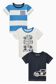 Car T-Shirt Three Pack (3mths-6yrs)