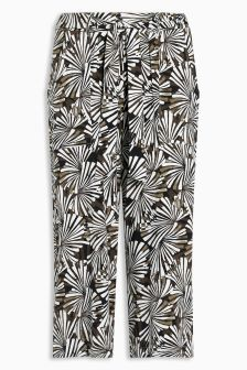 Jersey Cropped Wide Leg Trousers