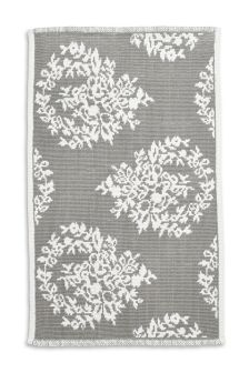Grey Damask Bathmat
