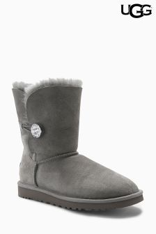 Ugg® Grey Bailey Button Bling Short Boot