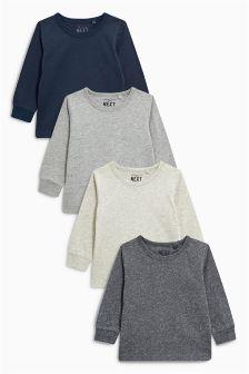 Long Sleeve T-Shirt Four Pack (3mths-6yrs)