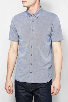 Short Sleeve Jersey Oxford Shirt