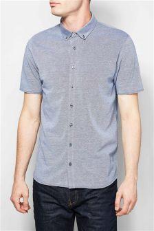 Short Sleeve Jersey Oxford Shirt