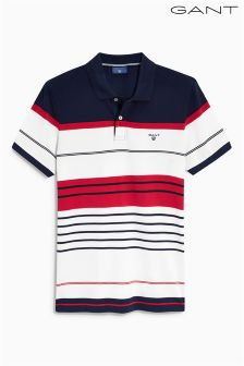 Gant Red Stripe Poloshirt