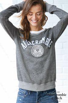 Abercrombie & Fitch Grey Logo Crew