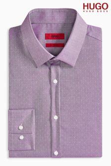 Hugo Pink Dot Jaquard Shirt