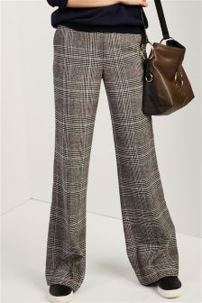Brushed Check Slouch Trousers