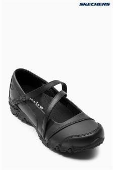 Skechers Black Gemz Mary Jane Shoe